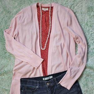 Ann Taylor LOFT Pink Cardigan